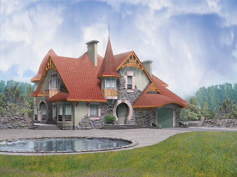 Проекты домов из пеноблоков pd 192 · Дома из пенобетона